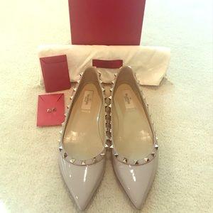 Valentino Rockstud Ballerina Flats Size 39.5
